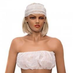 Opaska na włosy z włókniny biała  op.100 sztuk
