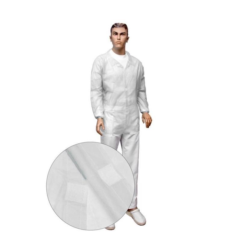 Bluza na rzepy PP biała gr. 30g/m2