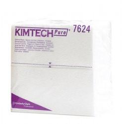 Czyściwo KIMTECH PURE* - składanie 1/4 białe karton 12 paczek