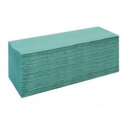 Ręcznik ZZ makulaturowy  zielony 1w 4000