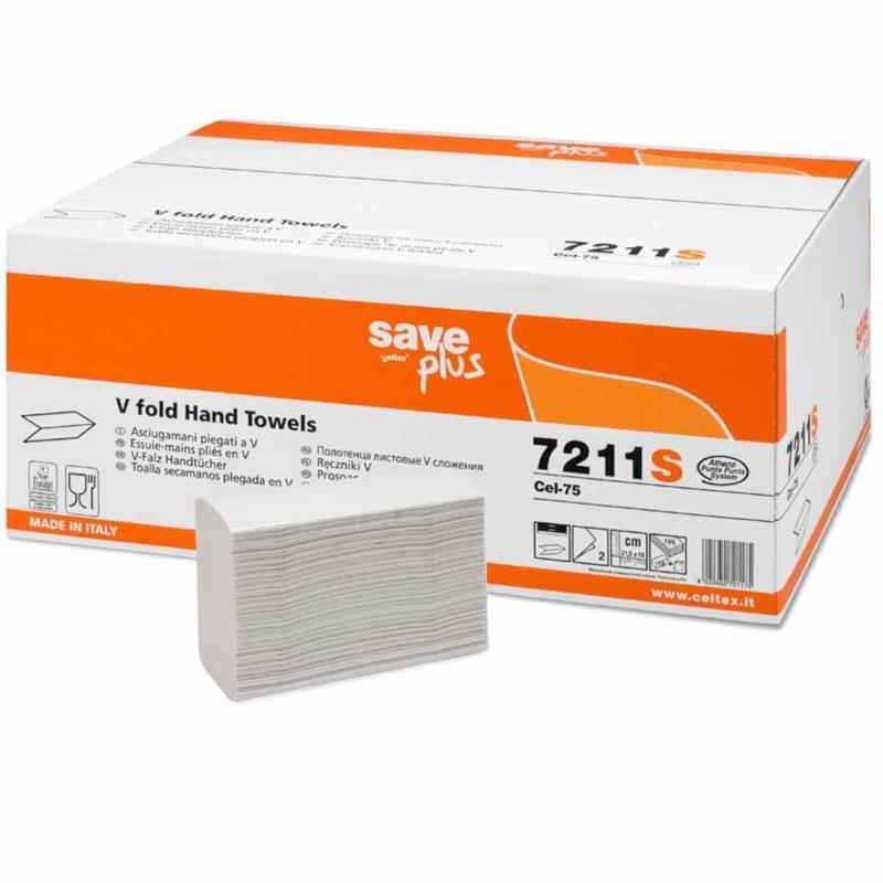 Ręcznik składany  celuloza mix V 3150 listków 2 warstwowy biały Celtex SpA