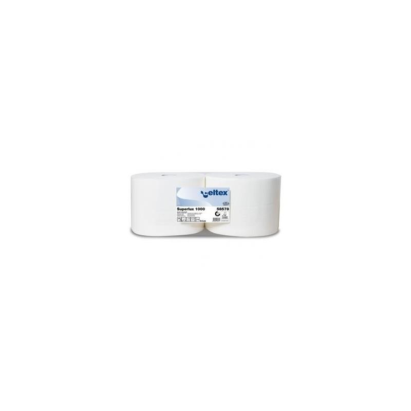 Czyściwo celuloza SuperLux 1000 białe 340m 3 warstwy  a2 rolki Celtex SpA