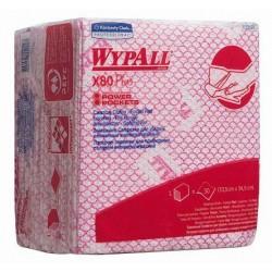 WYPALL* X80 Plus czyściwo 1/4 złożenie,czerwone karton 8 x 30 sztuk