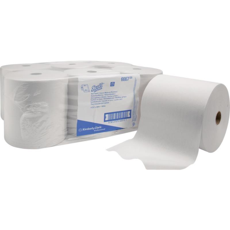 SCOTT® papierowe ręczniki na rolce 6667 a6 rolek