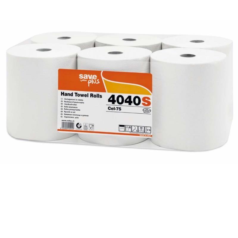 Ręcznik w roli 130m autocut biały 2 warstwowy Save Plus Celtex SpA