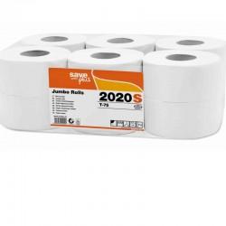 Papier MINI JUMBO 150 m  celuloza  75% 2w biały a12 rolek Celtex SpA