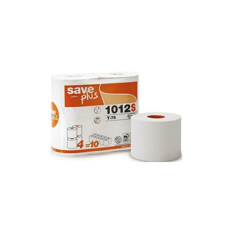 Papier tolatetowy SavePlus 55 m , 2w 500 lis, opakowanie 15 x 4 rolki