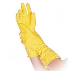 Rękawice gospodarcze flokowane Bettina żółte