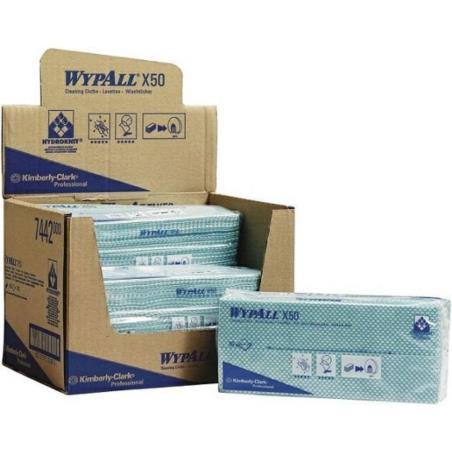 Czyściwo WYPALL  X50 kod 7442 zielone QF 6x50 kart. Kimberly Clark
