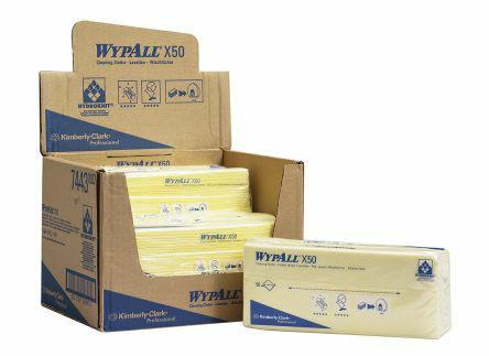 Czyściwo WYPALL  X50 kod 7443 żółte QF 6x50 kart. Kimberly Clark