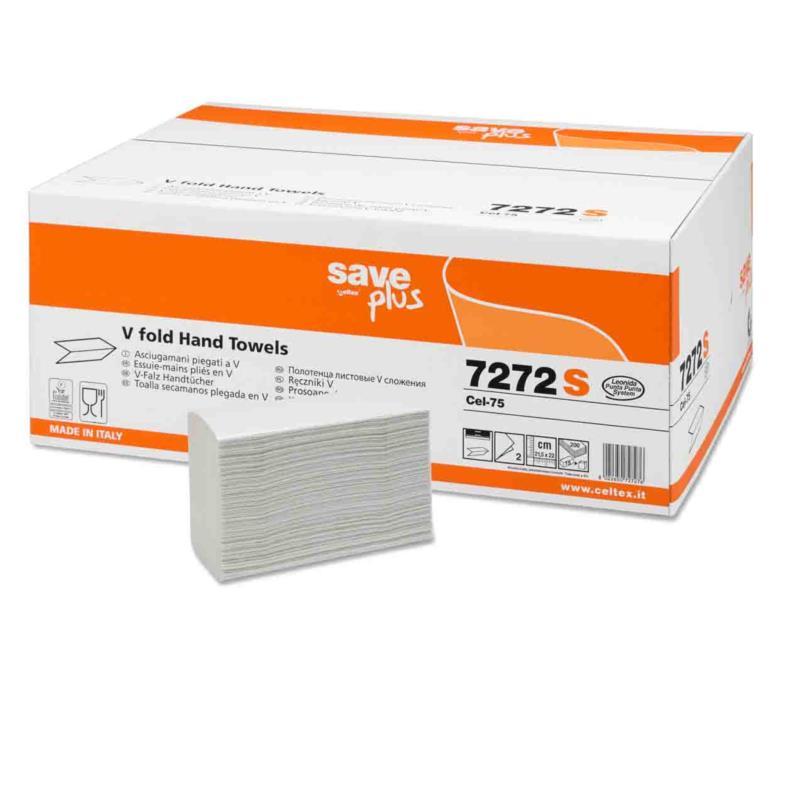 Ręcznik składany celuloza mix V 3000 listków biały 2 warstwy Celtex SpA