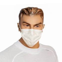 Maska z włókniny PP biała 2-war. z gumką a50 sztuk