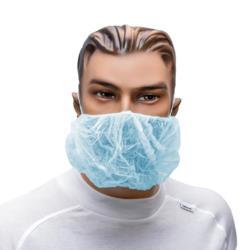 Maska na twarz i brodę PP niebieska gr. 10g/m2 a 100 sztuk