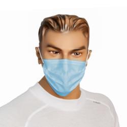 Maska z włókniny PP 3 wars. niebieska opak. 50 sztuk
