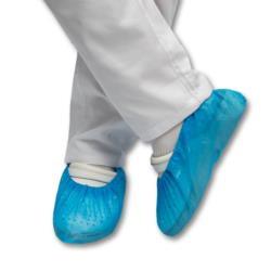 Osłony na buty z folii CPE niebieskie gr.0,02mm op.100szt.